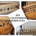 Diy un calendrier perpétuel en bois