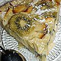 Clafoutis pomme et kiwi