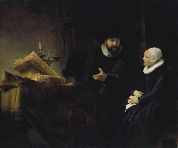 01 - Le Prédicateur mennonite Anslo et sa femme