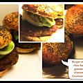 Burger veggie au chou kale et graines de chanvre