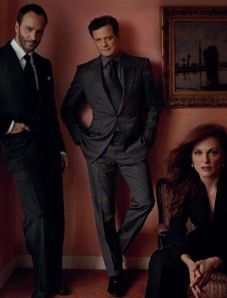 Tom Ford, Colin Firth et Julianne Moore