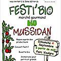 Festi'bio #3 : dimanche 4 septembre au parc voulgre