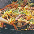 Saute de boeuf au wok .