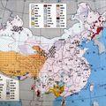 Les 56 <b>ethnies</b> de chine : la carte