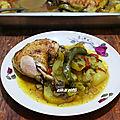 Batata fel koucha-Pommes de terre au <b>four</b> au poulet mariné