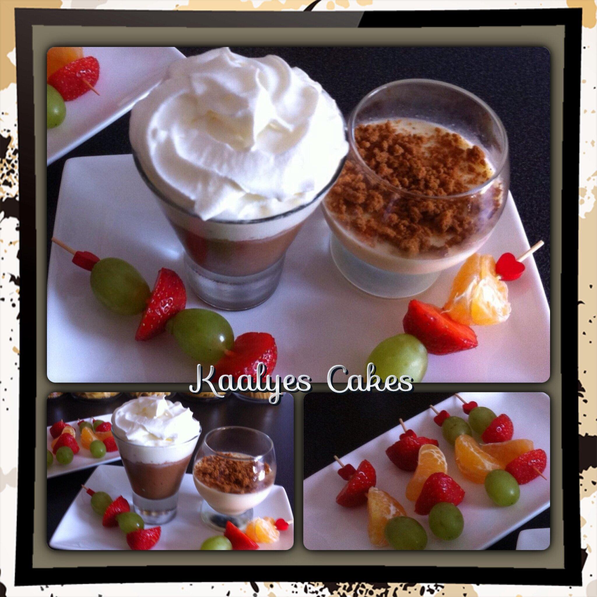 Mousse chocolat liégeoise & panna-cotta vanille spéculos
