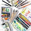 Montre ta palette - mes couleurs d'aquarelle