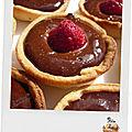 Mini tartelettes chocolat - framboise