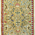 An important <b>Safavid</b> silk and metal-thread 'Polonaise' carpet, Isfahan, Central Persia, first quarter 17th century