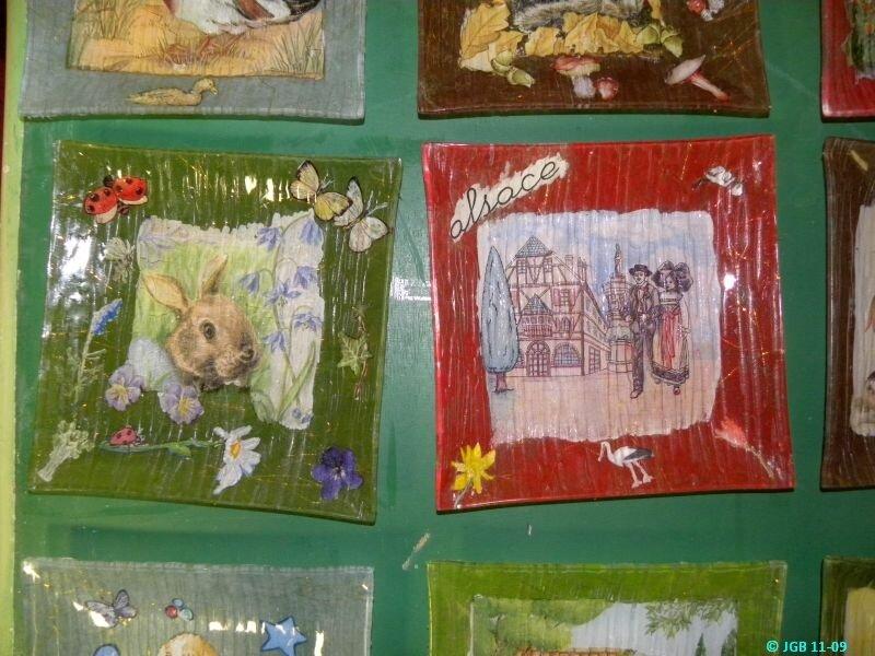 2 Jolies Assiettes décorées réalisées à l'atelier