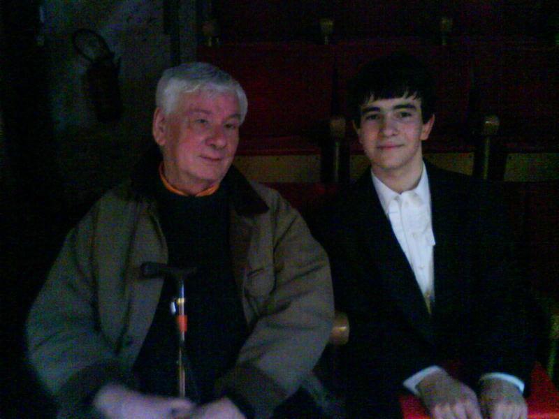 Ingmar avec le pianiste Gérard Frémy