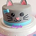 <b>Gâteau</b> chat - cat cake