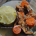 Poulet au cidre avec sa purée fondante