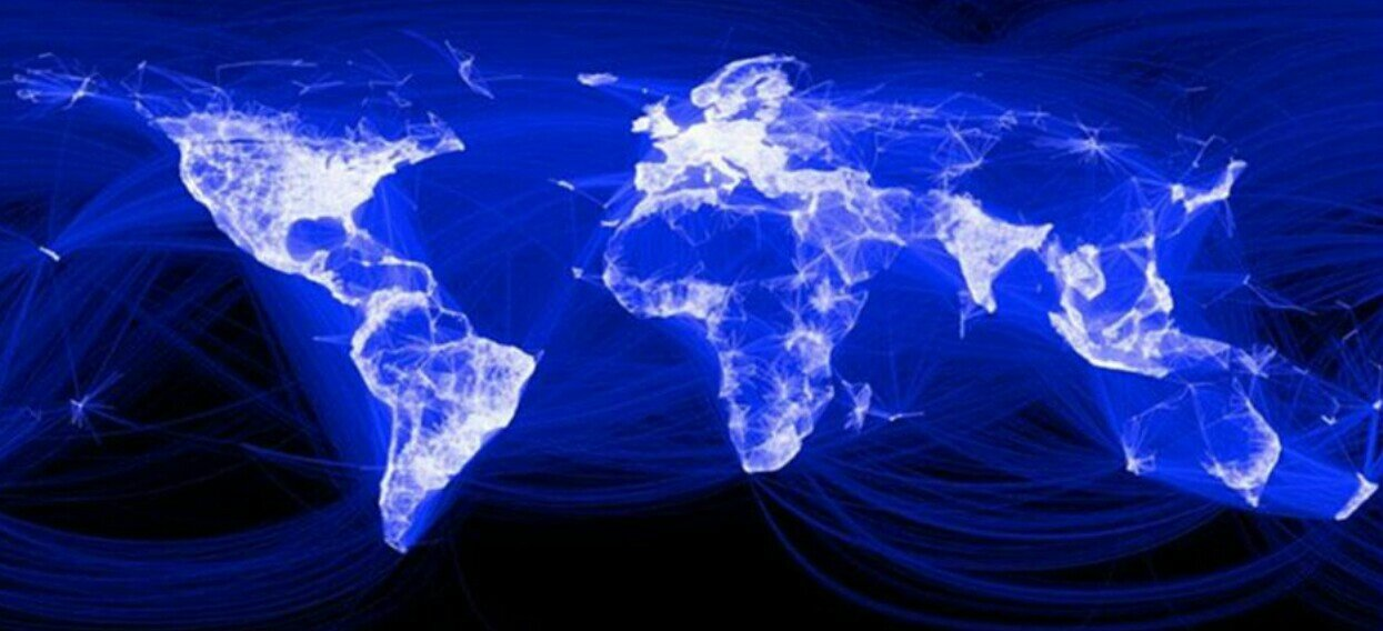 internet-Facebook map depicts all of the world's interconnected friendships