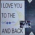 I love you to the moon and back (string art)