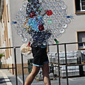 Parapluie en cul de bouteilles