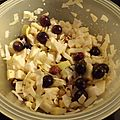 Mon panier du jeudi... salade d'automne au chou, aux pommes et aux raisins...