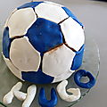 Gateau ballon de foot