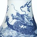 A fine and rare blue and white 'Dragon' tazza, Mark and period of Yongzheng (detail)