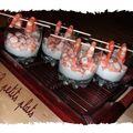 Mousseline de citron aux crevettes marinnees