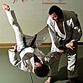 Réalisation du flyer a5 pour le club d'aïkido de louvain-la-neuve