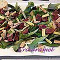 Salade de jeunes pousses au foie gras