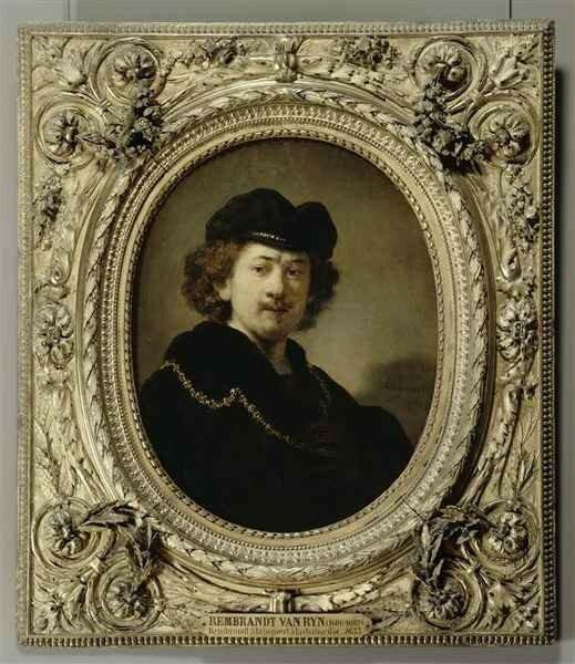 01 - Portrait de l'artiste à la toque et à la chaîne d'or