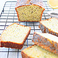 Cake Citron-<b>Pavot</b> et... Courgette ! (Veggie)