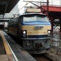 EF 66 39 dans la gare d'Okayama en travaux