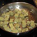 Fricassée de tofu au curry et à l'ananas