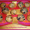 Mini muffins choco-banane et mini muffins aux myrtilles