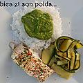 <b>Loup</b> de <b>mer</b> et riz au pesto de courgette