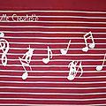 T-shirt musique - détail