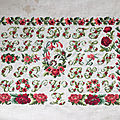 <b>Sampler</b> aux roses rouges ..