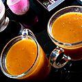 Soupe rouge tomates-poivrons