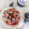 Sablé breton à la figue et au sirop de violette pour la #bataillefood4