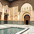 Mosaïques, riad et soleil d'hiver à Marrakech