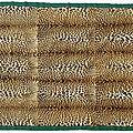 <b>Dessus</b>-de-lit composé de 12 peaux de léopard de la comtesse Lillian Ahlefeldt