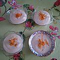 Mousse a l'orange et au tofu soyeux, sans gluten, sans lait