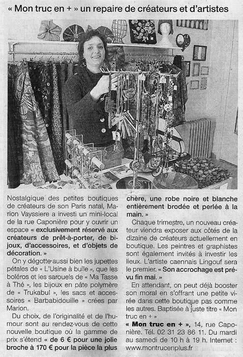 Ouest France 22/04/2009
