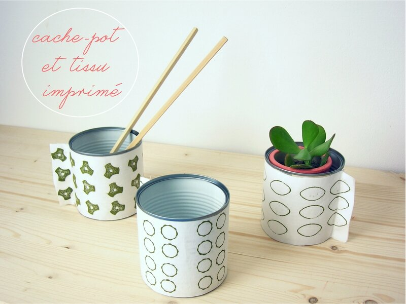 diy cache pot avec tissu imprim maison pi. Black Bedroom Furniture Sets. Home Design Ideas