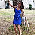 Couture review : robe bleu