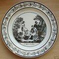 Manufacture de choisy : 3 assiettes paillard & hautin 1824-1836