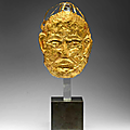 A very rare gold <b>mask</b>, Liao Dynasty (907-1125)