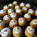Mini cup-cakes acidules meringues