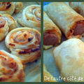 Mini-friands et spirales jambon-fromage
