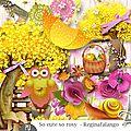Tout mignon tout rose......et jaune !