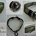 Bracelet organza Vert olive
