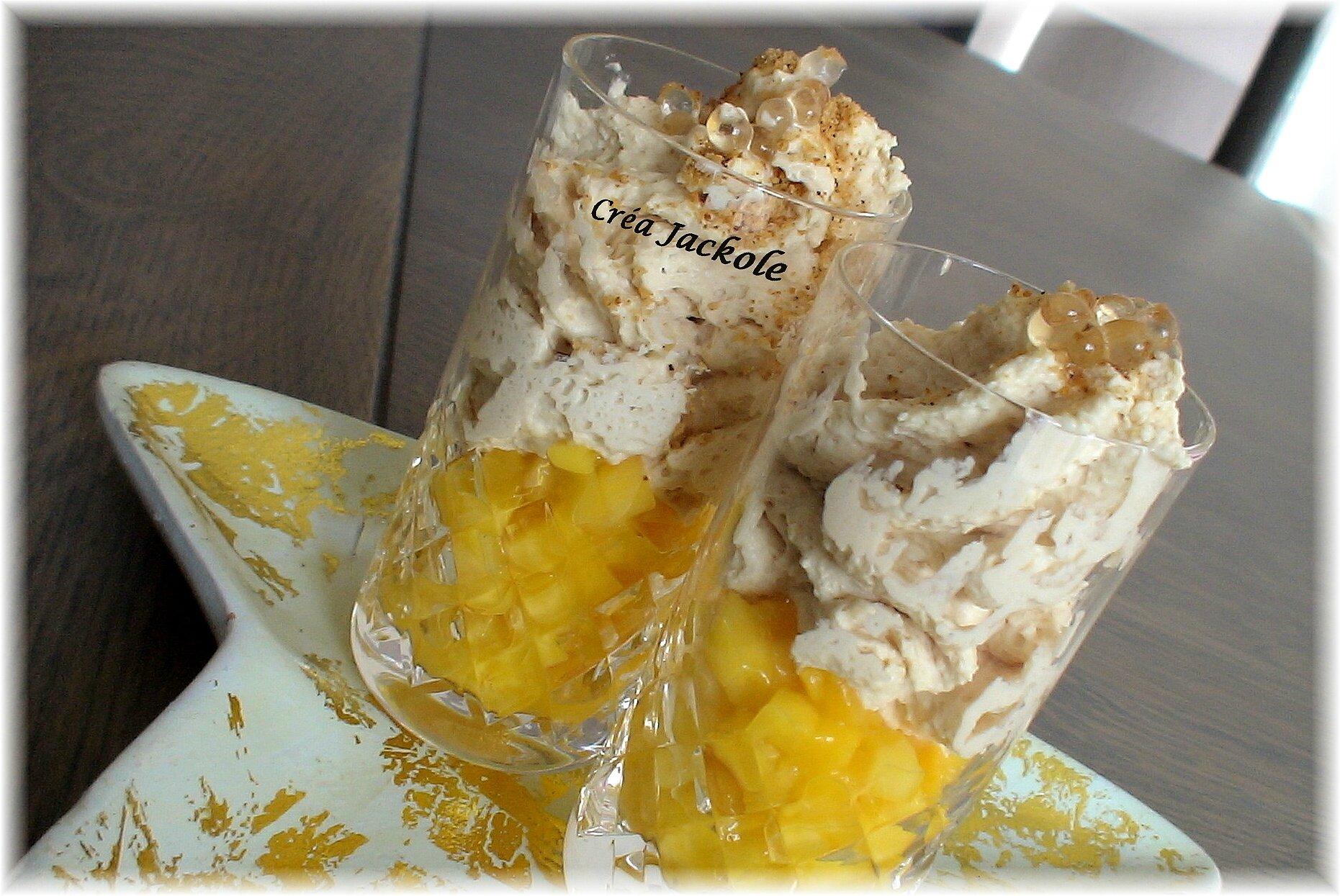Espuma de foie gras sur lit de mangue