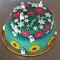 Le gâteau d'anniversaire des 2 ans de petite fée